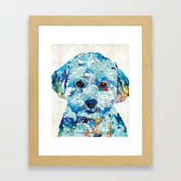Small Dog Art - Soft Love - Sharon Cummings Framed Art Print