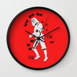 All the single stormtroopers Wall Clock