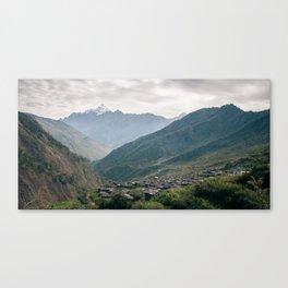 Gatlang Village, Nepal  Canvas Print