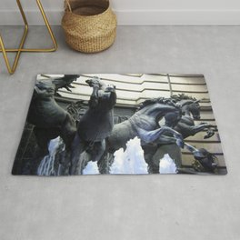 The Horses of Helios Fountain In London Rug