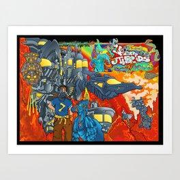Other Worlds: The Cliffs Near Bravo Nectron Art Print