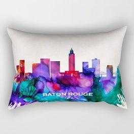 Baton Rouge Skyline Rectangular Pillow