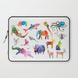 Technicolor Animal Kingdom Laptop Sleeve
