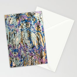 Abstract Music metallic Lovers Rock pattern Stationery Cards