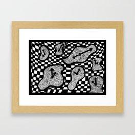 Trippy Clock Framed Art Print