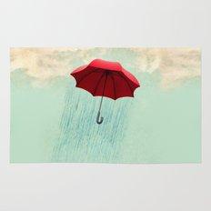 red rain Rug