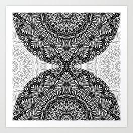 Mandala Mehndi Style G444 Art Print