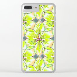 Flower Sketch 1 Clear iPhone Case