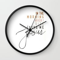 jesus Wall Clocks featuring Jesus by I Love Decor