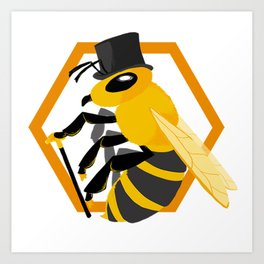 Bee Fancy Art Print