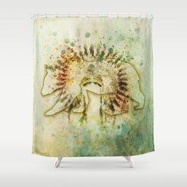 BEAR HEADDRESS Shower Curtain