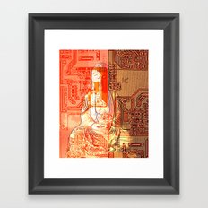 electronic buddha Framed Art Print