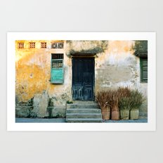 ANTIQUE CHINESE WALL of HOI AN in VIETNAM Art Print