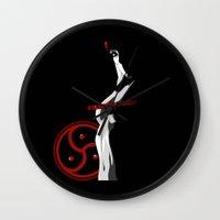 bdsm Wall Clocks featuring BDSM by Vanesa Abati