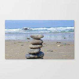 MEDITATION ROCKS Canvas Print