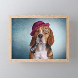 Drawing Dog Beagle Framed Mini Art Print