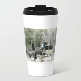 horse and carriage photography art Travel Mug