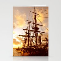 pirate ship Stationery Cards featuring PIRATE SHIP :) by Teresa Chipperfield Studios