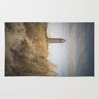 lighthouse Area & Throw Rugs featuring Lighthouse  by Maria Heyens