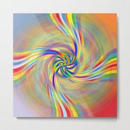 Rotating Rainbow Metal Print