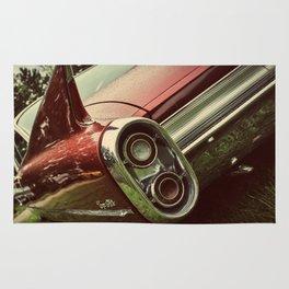 Vintage Car : Red Coupe De Ville Rug