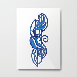 Blue Design 12 Metal Print