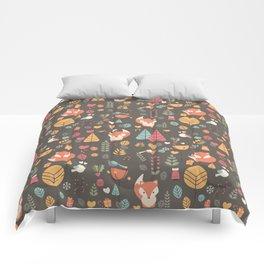 Baby fox pattern 04 Comforters