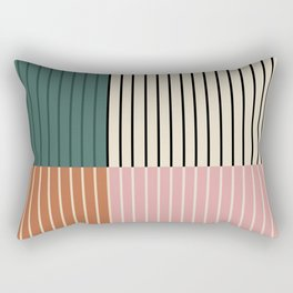 Color Block Lines V Rectangular Pillow