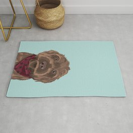 Remington the Wirehaired Pointing Griffon Rug