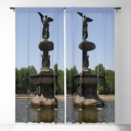 Angel  Of The Waters Fountain - Central Park Blackout Curtain