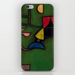 """Paul Klee """"Pflanze und Fenster Stilleben (Still life with Plant and Window)"""" iPhone Skin"""