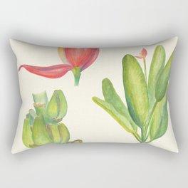 Banana Tropical Flower Retro Poster Rectangular Pillow