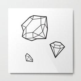 Shape of Gems Metal Print