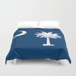 Flag of South Carolina - High Quality image Duvet Cover