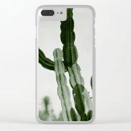 Vintage Cactus Print I Clear iPhone Case
