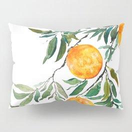orange watercolor Pillow Sham