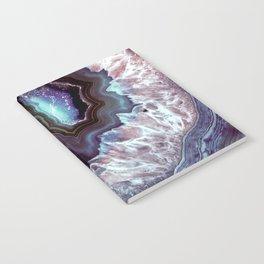Ocean Blues Quartz Crystal Notebook