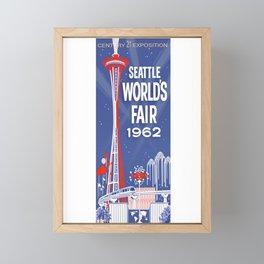 Seattle 1962 World's Fair Vintage Poster Framed Mini Art Print