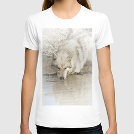 Wolf Prowls in Lake T-shirt