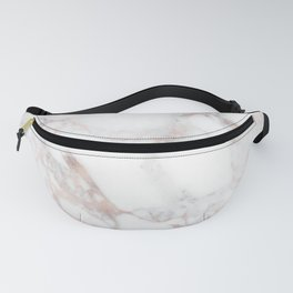 Rose Gold Marble Blush Pink Metallic Foil Fanny Pack