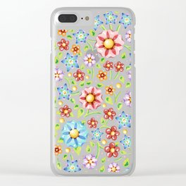 Ditsy Millefiori Pattern Clear iPhone Case