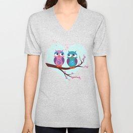 Love owls Unisex V-Neck