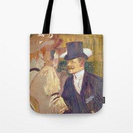 The Englishman, Henri de Toulouse Lautrec, 1892 Tote Bag