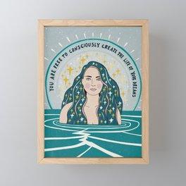 Create the life of your dreams Framed Mini Art Print