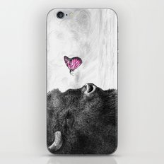 Bison and Butterfly iPhone Skin
