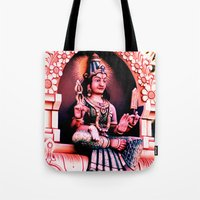 hindu Tote Bags featuring Hindu 1 by very giorgious