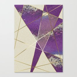PURPLE FRAGMENTS 01 Canvas Print