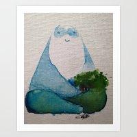 Man of the Mountain Art Print