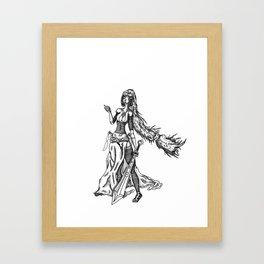 jasmina black and white Framed Art Print
