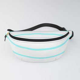 Horizontal Lines (Aqua & White Pattern) Fanny Pack